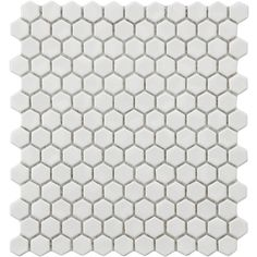 white hex tile with