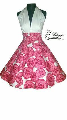 Rosen kleid zum Petticoat