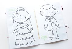 Free Printable: Wedding Activity Book. Cute photos for the Kids' Activity Book.