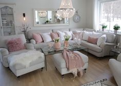 Have a nice evening everyone💖 .… Have a nice evening everyone💖 . Lavender Living Rooms, Home Living Room, Living Room Decor Apartment, New Living Room, Condo Living Room, Room Decor, Living Room Grey, Country Living Room, Home Decor Furniture