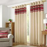 Red Albury Curtain Collection  #pinittowinit #dunelm