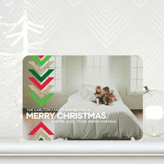 Merry Arrows - #Christmas Cards in a bright Grass Green