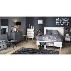 Grijs vintage nachtkastje | Maisons du Monde