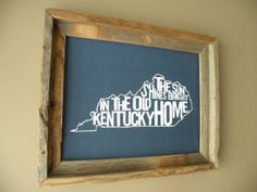 UK Blue Old Kentucky Home Map Print by fortheloveofmaps on Etsy, $22.00