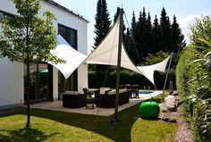 protection solaire avec voile d'ombrage pour la terrasse extérieur