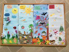 My handmade Kindergarten Children Ideas for teacher Kids Four seasons Spring Summer Autumn Winter Fall Winter, Autumn, Four Seasons, Children, Kids, Kindergarten, Teacher, Spring Summer, Photo And Video