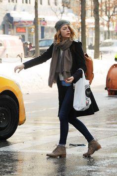 winter street style 2014 | Emma Stone – Real New York City Street Style: Winter 2014