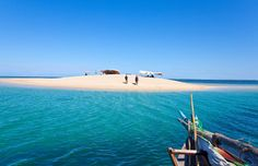 A tiny piece of private paradise off Mozambique's Ibo Island. Accessible only by boat, this sandbank beach appears almost out of nowhere in the middle of the Indian Ocean.