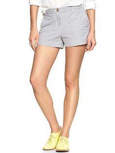Sunkissed mini-stripe seersucker shorts   Gap
