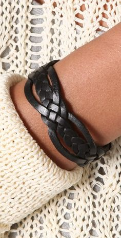 leather bracelet - braid