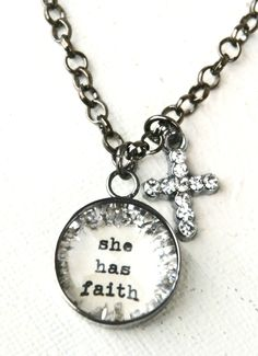 she has faith [CNS4] - $35.00 : Beth Quinn Designs , Romantic Inspirational Jewelry t  I really want this necklace....too pretty