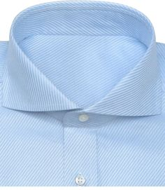 The cutting-edge cutaway collar custom shirts will make you stand out in a crowd. Custom cut-away collar dress shirts are getting a lot of attention these days.