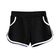 New Summer Pants Women Sports Shorts Gym Workout Waistband Skinny Yoga Short Spring Shorts Outfits, Shorts Outfits Women, Gym Shorts Womens, Sport Shorts, Trendy Clothes For Women, Pants For Women, Trendy Clothing, Skinny Shorts, Black Shorts