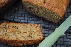 Pineapple Carrot Zucchini Bread.. seems like a good way to beef up fruit and veggie servings for the day, lol