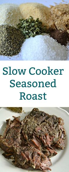 This recipe for Slow Cooker Seasoned Roast is made with a homemade spice blend with a secret ingredient. #Roast #Recipe
