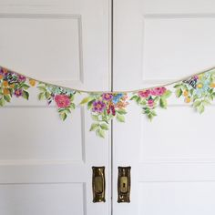 Flower Garland by WonderfulCollective on Etsy https://www.etsy.com/listing/187331268/flower-garland