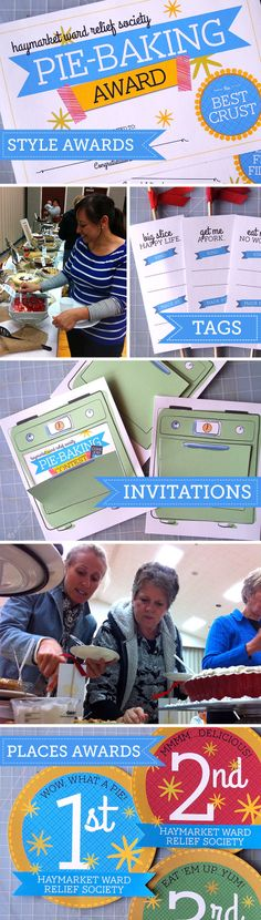 Cute and Useful - Home - Free Pie Baking Contest Printables  I love these invitations.