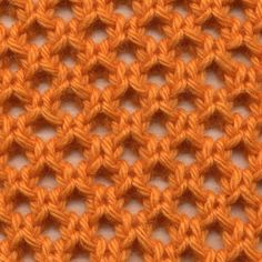 Knot Knecessarily Known Knitting: Symmetrical Yarn Over Net Pattern – Strik sjal… – Stricken Lace Knitting Patterns, Knitting Stiches, Loom Knitting, Easy Knitting, Knitting Basics, Knitting Machine, Lace Patterns, Crochet Motifs, Crochet Stitches