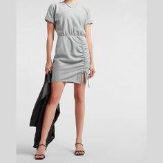 Trendy Shopping - Petite Summer Dresses Petite Summer Dresses, Casual Summer Dresses, White Pleated Tennis Skirt, Dress Shirts For Women, Clothes For Women, Petite T Shirts, Maxi Wrap Dress, Express Dresses, Gray Dress