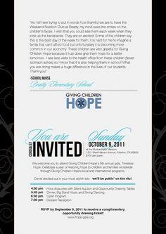 Non-Profit Gala Invitation- Inside keywords: corporate non-profit fundraiser benefit