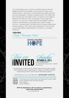 Non-Profit Gala Invitation- Inside keywords: corporate non-profit fundraiser benefit