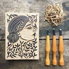 Art Dish: Positive and Negative Space Name Art Gravure Illustration, Illustration Art, Linocut Prints, Art Prints, Block Prints, Lino Art, Stamp Carving, Linoprint, Art Graphique