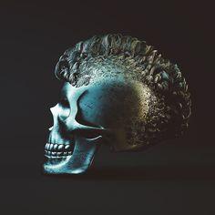 20160423 | HAIRY STUFFS. 83/365. #hoanganhnguyen #octanerenderer #octanerender #octane #cinema4d #c4d #hair #skull #freakymotion by _hoang_anh