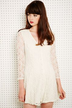 Pins & Needles Lace V-Neck Dress at Urban Outfitters