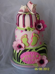 SUPER CUTE baby shower cake! @Katie Rutledge dont expect that to be the cake there but dang its cute!