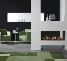 Fireplace available at www.annekedekkers.nl. #fireplace #annekedekkers #fire #gezellig #chic #living #interior #floor #stone  #inspiration #home #modern