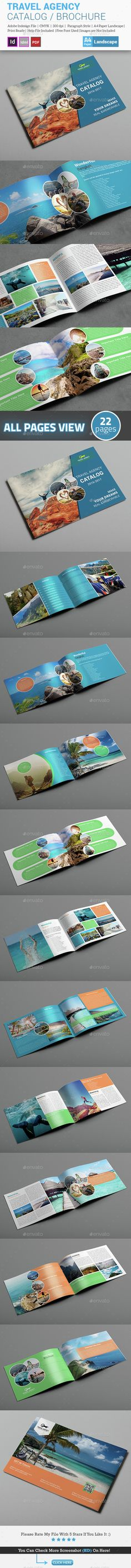 Travel Agency Brochure / Catalog Template InDesign INDD. Download here: http://graphicriver.net/item/travel-agency-brochure-catalog-template/15396648?ref=ksioks