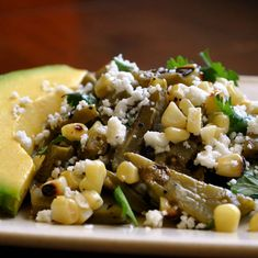 We're lucky to have easy access to fun ingredients like nopales  (cactus) here in San Diego, so take full advantage and try this grilled corn and cactus salad from The Kitchn!