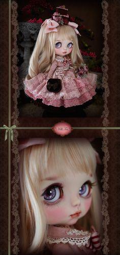 Custom Blythe Dolls: Milk Tea Custom Blythe Raspberry Lolita - A Rinkya Blog