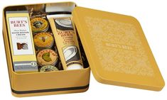 Burt's Bees Classics Gift Set Tin Giveaway – Freebies In Your Mail – Sweepstakes Burts Bees, Beeswax Lip Balm, Tin Gifts, Jean Paul, Foot Cream, Last Minute Gifts, Shea Butter, Lemon Butter, The Balm