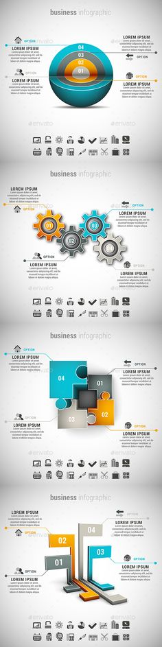 4 in 1 Business Infographics Template Bundle. Download here: http://graphicriver.net/item/4-in-1-business-infographics-bundle/15040866?ref=ksioks
