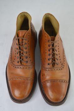 Regain Hand Made Schuhe Gr 40 UK 6 cm Boots Leder Herrenschuhe Brogue Braun Men Dress, Dress Shoes, Good Looking Men, Brogues, How To Look Better, Oxford Shoes, Lace Up, Ebay, Handmade