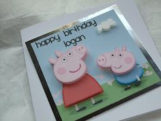 A Day in the Life of a Craft Fairy...: Peppa and George Pig Card!!!