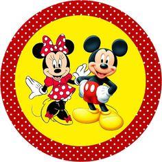 Mickey e Minnie - Kit Completo com molduras para convites, rótulos para…