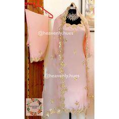 ✔️Style:Long shirt with salwar. ✔️Fabric: Crepe for suit, pure orgenza dupatta meters length) ✔️Embellishments:Gotta patti, dabka,… Punjabi Suits Party Wear, Punjabi Salwar Suits, Salwar Suits Online, Salwar Kameez, Punjabi Suits Designer Boutique, Boutique Suits, Designer Punjabi Suits, Designer Sarees, Trendy Suits