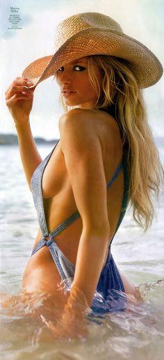 Marisa Miller...Swimsuit by Debbie Wilson