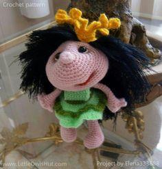 Project by elen333888 Doll Princess Amigurumi toy created using LittleOwlsHut crochet pattern www.ravelry.com/... #Amigurumi, #Pertseva, #LittleOwlsHut, #Princess, #Doll, #toy, #CrochetPattern