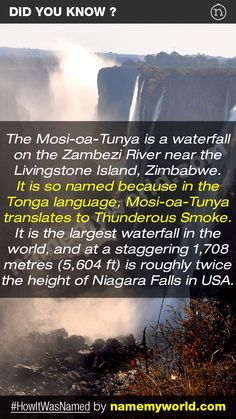So how will you name your baby? Hint : Use our apps > bit.ly/NMWiphone / bit.ly/NMWandroid  #HowItWasNamed #MosiOaTunya #VictoriaFalls