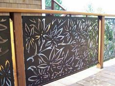 Laser Cut Metal Wall Art Outdoor Screens – Welcome to Laser Move Merchandise, Inc. Laser Cut Screens, Laser Cut Panels, Laser Cut Metal, Laser Cutting, Tor Design, Fence Design, Metal Railings, Deck Railings, Railing Ideas