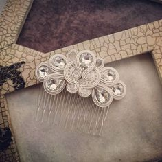 Boho Jewelry, Bridal Jewelry, Handmade Jewelry, Soutache Necklace, Kanzashi, Hair Beads, Beaded Brooch, Diy Hair Accessories, Shibori