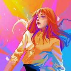 Beautiful Lisa fanart by Chalseu on twitter