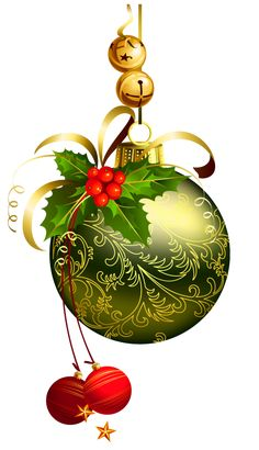 CHRISTMAS ORNAMENTS AND BELLS CLIP ART