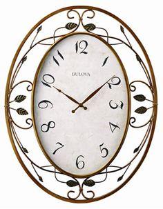 Bulova Laurel Clock - Vine Design - Bronze-Tone Finish.  25inx19in.  Reg $223, now $59 Clearance