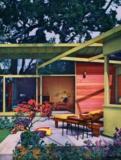 1953 outdoor living patio great colors