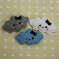 cute little cloud brooches
