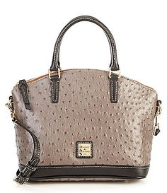 Dooney and Bourke Ostrich Collection Toni Satchel #Dillards